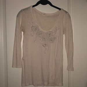 Jcrew silk flower embroidered shirt. Size XS